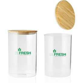 Store N Go Glass Storage Jar with Bamboo Lid (37 Oz.)