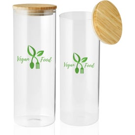 Store N Go Glass Storage Jar with Bamboo Lid (64 Oz.)