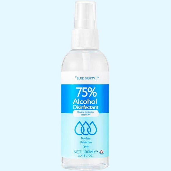 White 75% Alcohol Disinfectant Spray