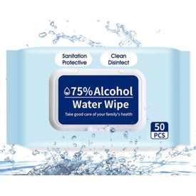 75% Alcohol Wipes in Pouches