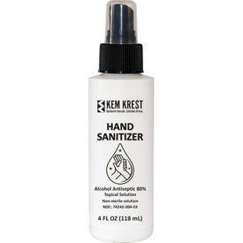 80% Alcohol Hand Sanitizer Pump Sprays (4 Oz.)