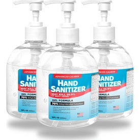 Advanced Caliber Gel Hand Sanitizer Pump Bottles (16 Oz.)
