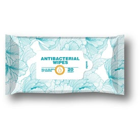 Antibacterial Wet Wipes - 20 Count