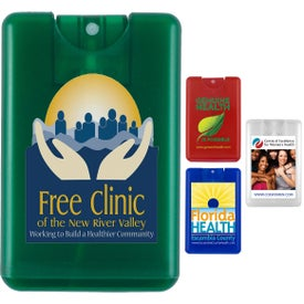 Credit Card Shape Hand Sanitizer Spray (20 mL, Full Color Logo)