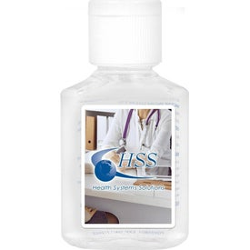 Custom Label Gel Hand Sanitizer Flip-Cap Bottles (1 Oz.)