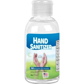 Custom Label Gel Hand Sanitizer Flip-Cap Bottle (4 Oz.)