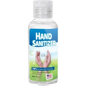 Custom Label Gel Hand Sanitizer Flip-Cap Bottles (2 Oz.)