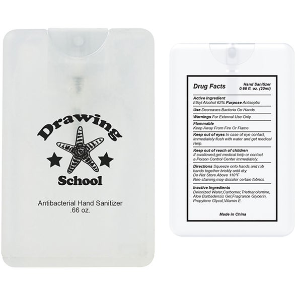 Clear Hand Sanitizer Card