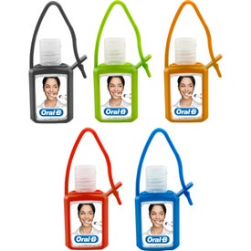 Hand Sanitizer Gel in Silicone Case (0.5 Oz.)