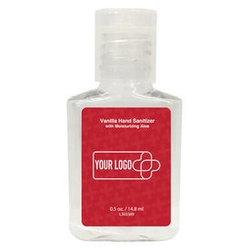 Hand Sanitizer Gel Square Bottle (0.5 Oz.)
