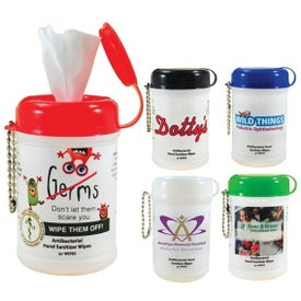 Monogrammed Hand Sanitizer Mini Wipe Canister
