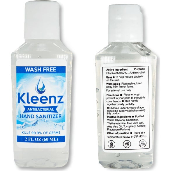 Clear Hand Sanitizer with Flip Cap and 62% Ethyl Alcohol