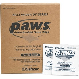 p.a.w.s. Antimicrobial Hand Wipes with 66.5% Alcohol