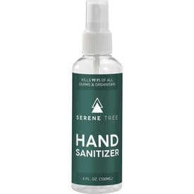 Serene Tree Hand Sanitizer Bottles (4 Oz.)
