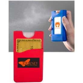 Silicone Wallet Sleeve with Sanitizer (0.67 Oz.)