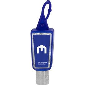 Single Color Moisture Bead Sanitizer in Trapezoid Bottle and Sleeve (1 Oz.)