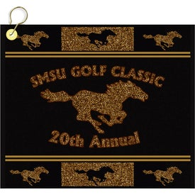 "16"" x 11"" Custom Woven Golf Towel"