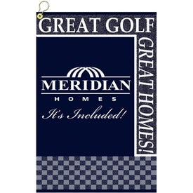 """16"""" x 19"""" Custom Woven Golf Towel Imprinted with Your Logo"""