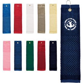 """16"""" x 22"""" Woven Embroidered Towel Printed with Your Logo"""
