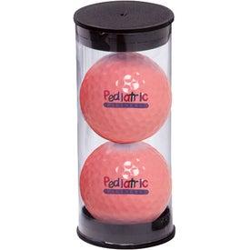 Monogrammed 2 Ball Tube