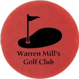 """3/4"""" Plastic Ball Marker Branded with Your Logo"""