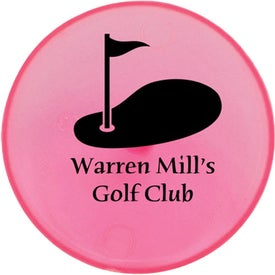 """3/4"""" Plastic Ball Marker Imprinted with Your Logo"""