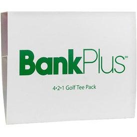 "4-2-1 Golf Tee Packet - 3 1/4"" Tee Giveaways"