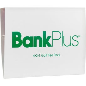 4-2-1 Golf Tee Pack with Your Logo
