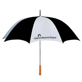 "Monogrammed 60"" Arc Two Tone Golf Umbrella"