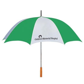 "Branded 60"" Arc Two Tone Golf Umbrella"