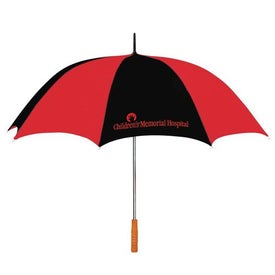 """60"""" Arc Two Tone Golf Umbrella with Your Logo"""