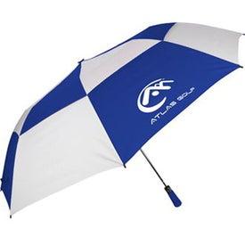 "Personalized 60"" Folding Auto Open Windbuster Umbrella"
