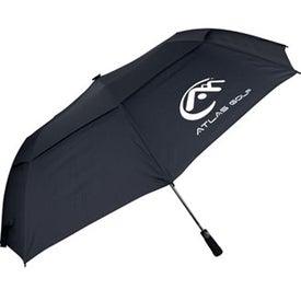 "Custom 60"" Folding Auto Open Windbuster Umbrella"