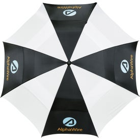 "Custom 62"" Course Vented Golf Umbrella"