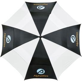 "Custom 62"" Course Vented Golf Umbrella"