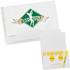 """Logo 6-2 Golf Tee Packet - 3 1/4"""" Tee"""