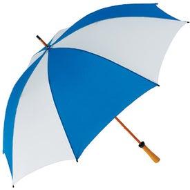 "Monogrammed 62"" Wood Shaft Golf Umbrella"