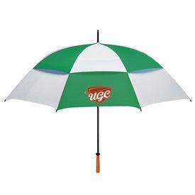 "68"" Arc Vented Golf Umbrella for your School"