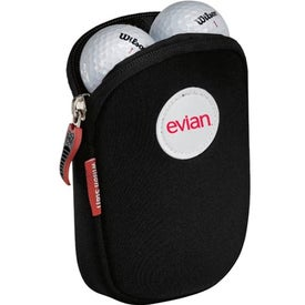 Promotional 6 Ball Neoprene Pouch With Wilson Staff 50 Golf Balls