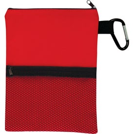 6 x 8 Ditty Bag With Pocket Imprinted with Your Logo