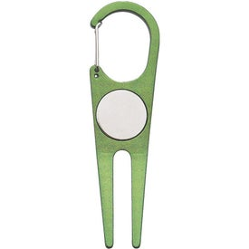 Custom Aluminum Divot Tool with Ball Marker