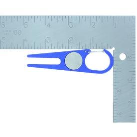 Advertising Aluminum Divot Tool with Ball Marker