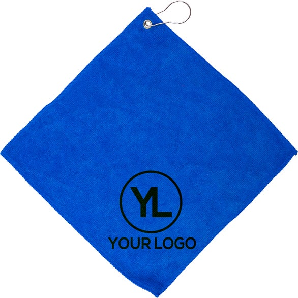 Blue Augusta Microfiber Golf Towel
