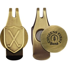 Engraved Ball Marker Hat Clip