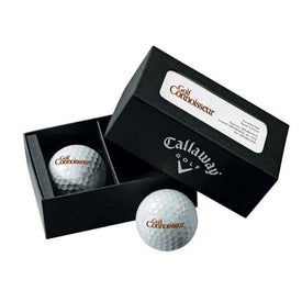 Callaway 2 Ball Business Card Box HX Diablo Tour