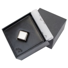 Callaway Leather Coaster Set with Bottle Opener for your School