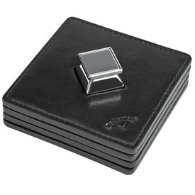 Callaway Leather Coaster Set with Bottle Opener