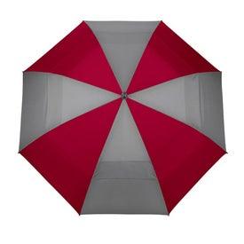 Branded Canterbury Color Panel Golf Umbrella