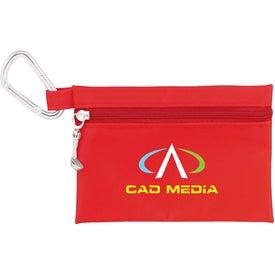 "Logo Champion Golf Jumbo Zipper Pack with 3 1/4"" Tees"