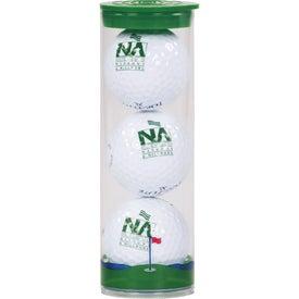 Clear Tube (3 Wilson Ultra Golf Balls)